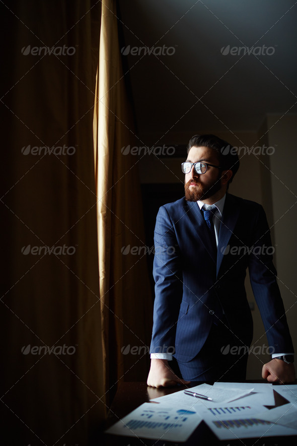 Serious employer - Stock Photo - Images
