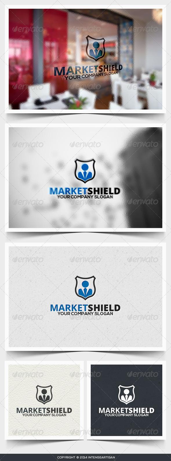 Market Shield Logo Template - Humans Logo Templates