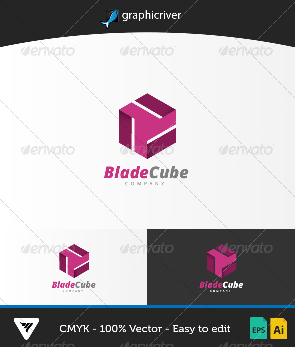 BladeCube Logo - Logo Templates