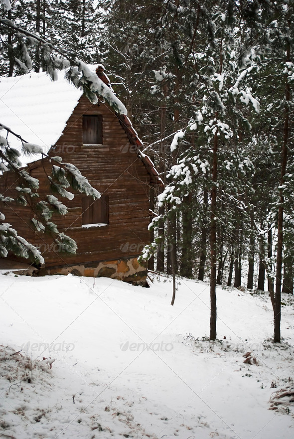 Mountain Cottage - Stock Photo - Images