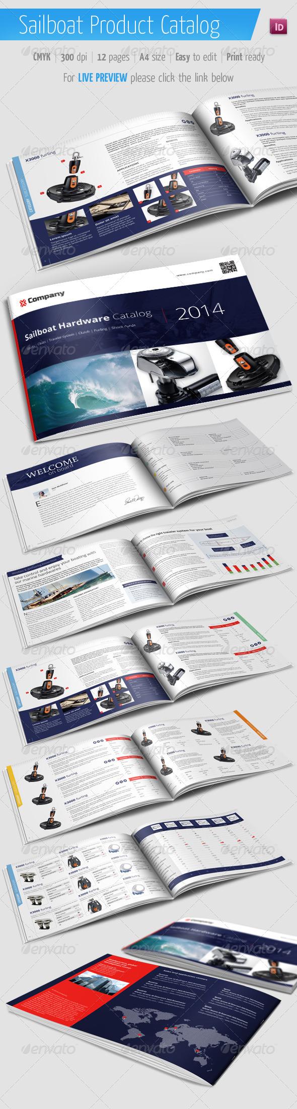 Sailboat Product Catalog - Marine Brochure - Catalogs Brochures