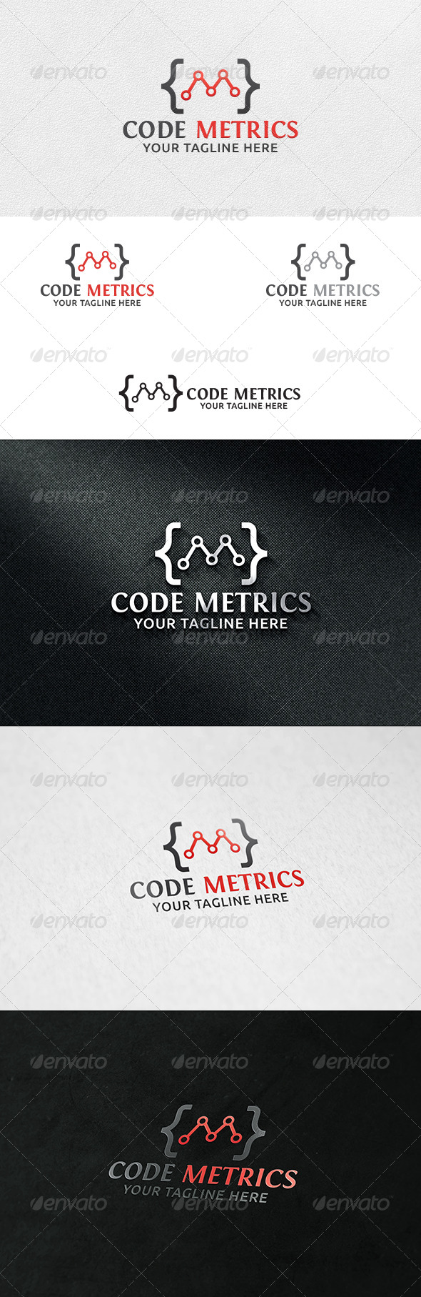 Code Metrics - Logo Template - Symbols Logo Templates