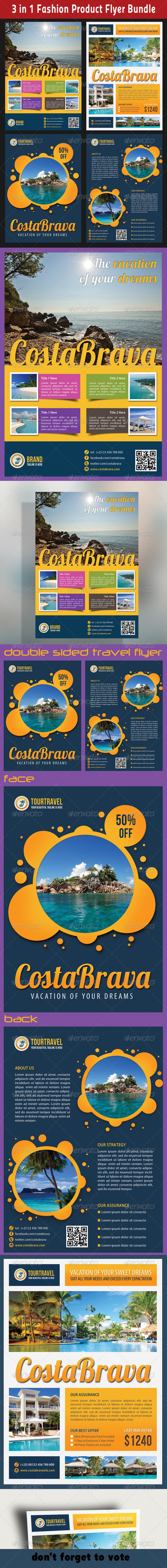 3 in 1 Tour Travel Flyer Bundle 01 - Holidays Events