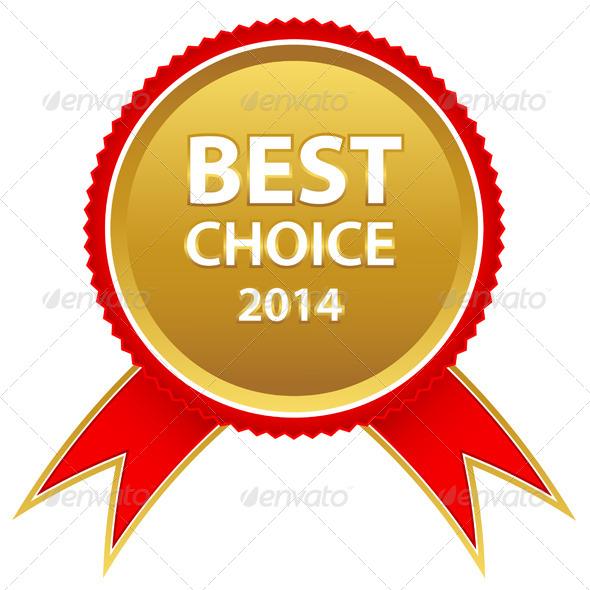 Best Choice Ribbon - Web Elements Vectors