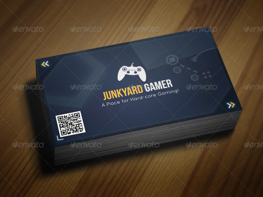 gaming themed business card by taeef