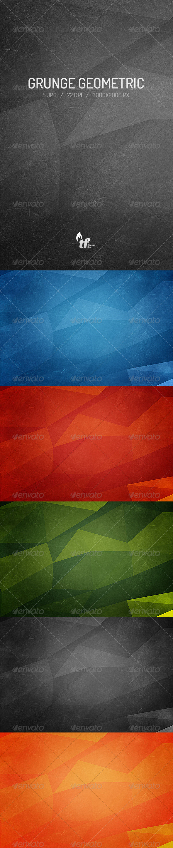 Grunge Geometric Backgrounds - Backgrounds Graphics