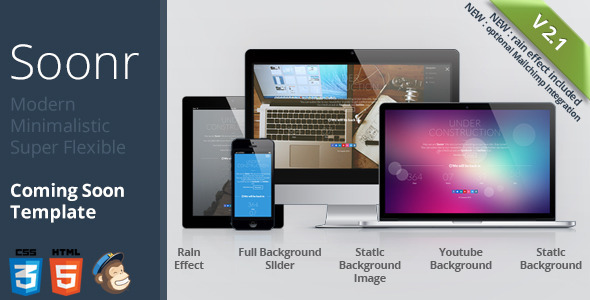Soonr – Modern Flexible Coming Soon Template