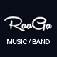Raaga - Responsive Parallax Template for Bands Nulled