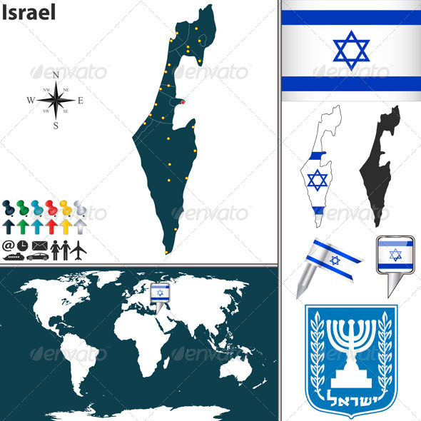 Map of Israel - Travel Conceptual