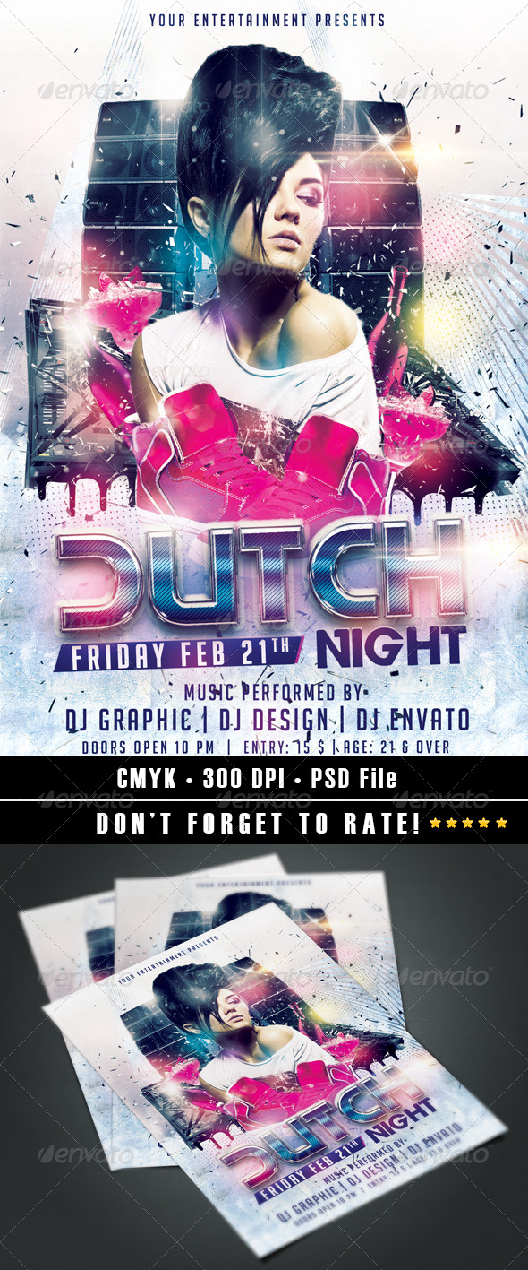 Dutch Night flyer - Clubs & Parties Events
