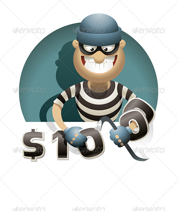 Theft Money - People Characters