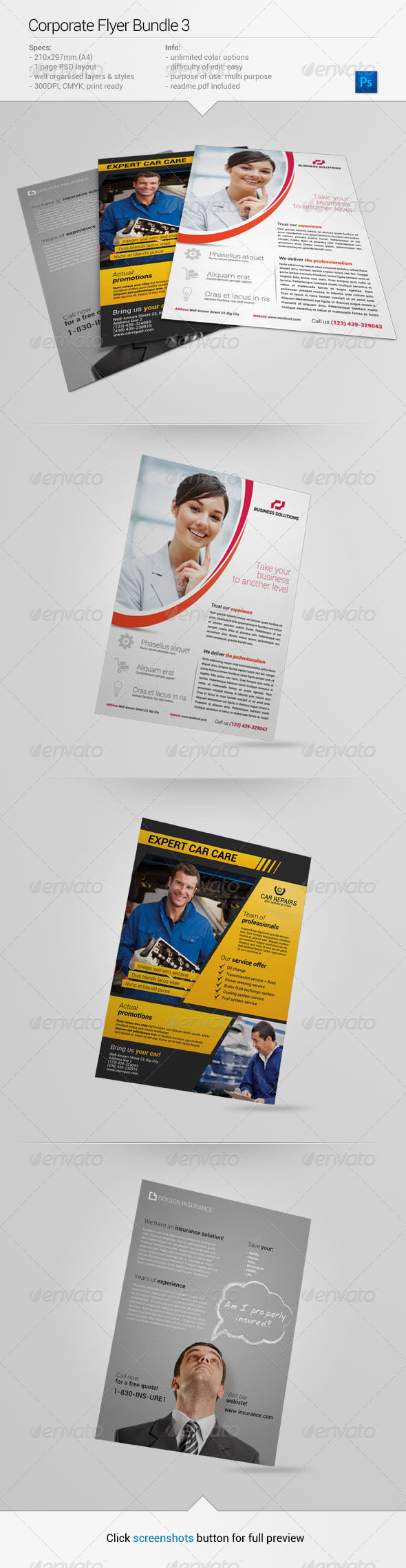 Corporate Flyer Bundle 3 - Corporate Flyers