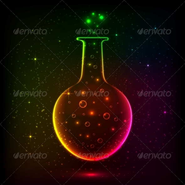 Shining Rainbow Bottle with Magic Lights - Backgrounds Decorative
