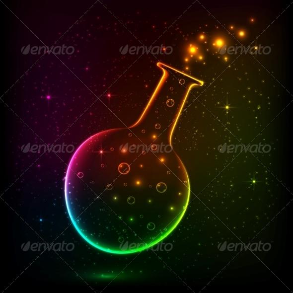 Shining Rainbow Bottle with Magic Lights - Backgrounds Decorative