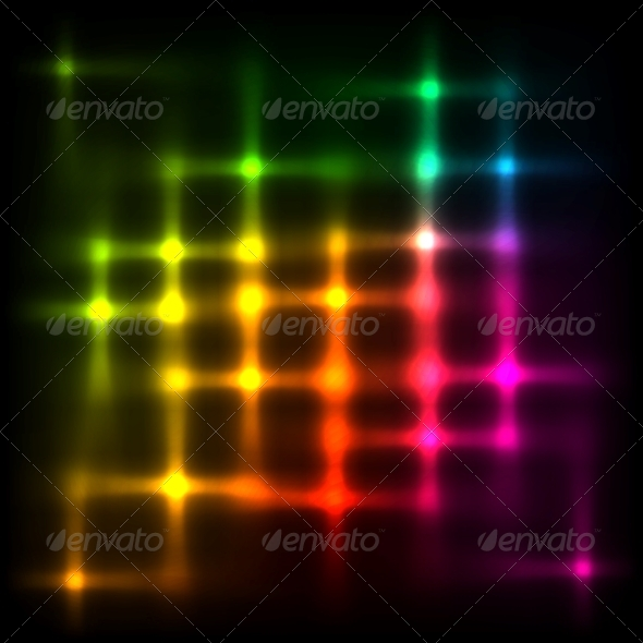 Rainbow Disco Lights Abstract Background - Backgrounds Decorative