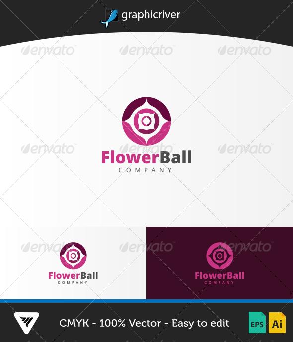 FlowerBall Logo - Logo Templates