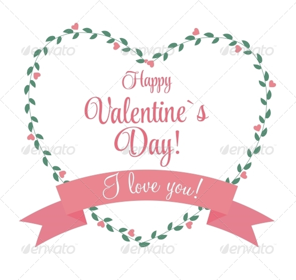 St Valentine Day's Greeting Card in Retro S - Valentines Seasons/Holidays