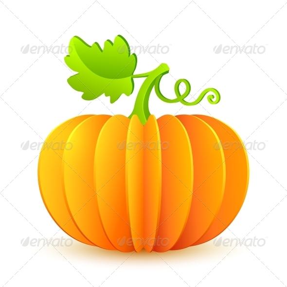 Bright Halloween Paper Pumpkin - Seasons Nature