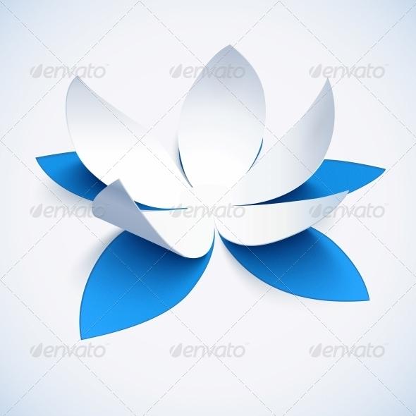 Blue Cutout Paper Flower - Flowers & Plants Nature