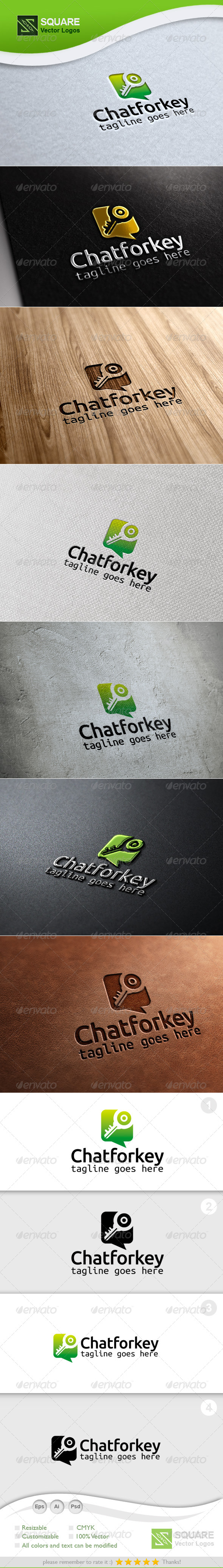 Chat, Key Vector Logo Template - Symbols Logo Templates