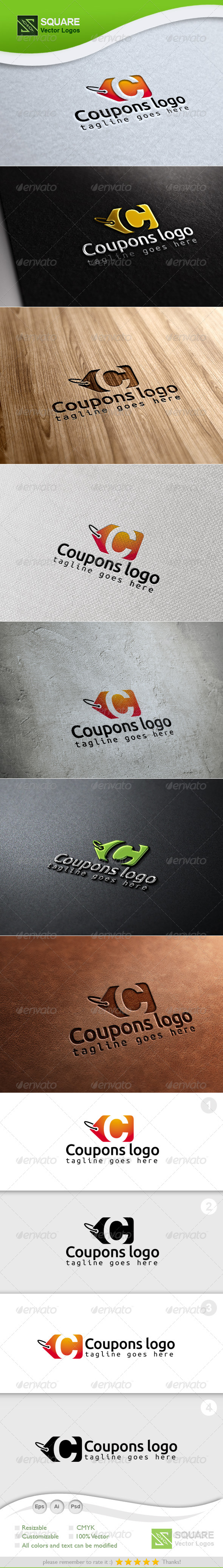 C, Coupon Vector Logo Template - Letters Logo Templates