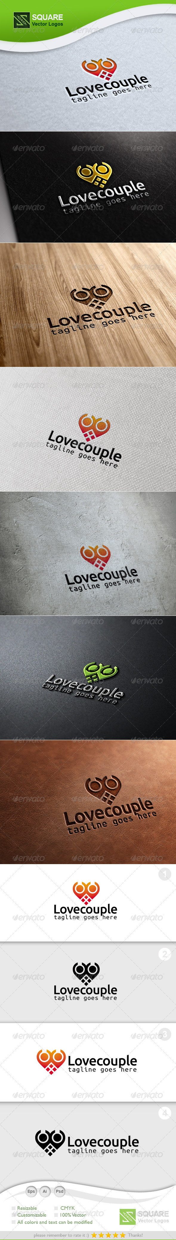 Love, Couple Vector Logo Template - Humans Logo Templates