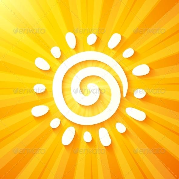 White Cutout Paper Sun on Yellow Background - Seasons Nature
