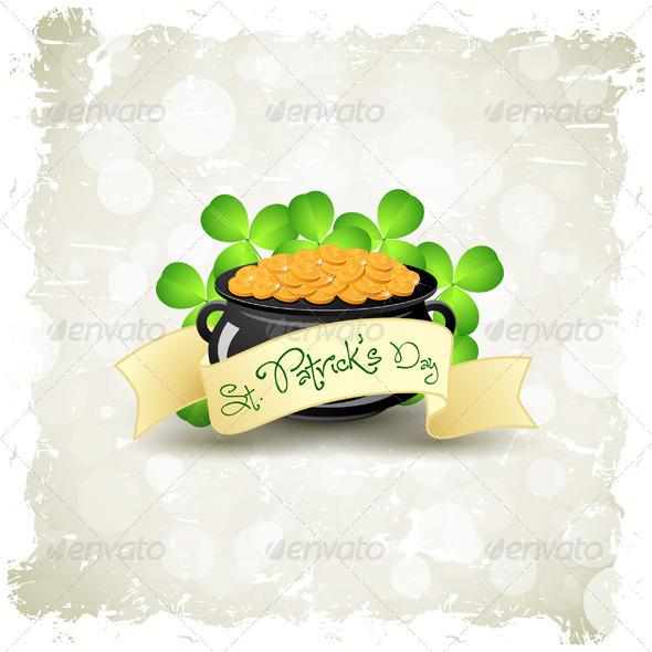 Grungy Patrick's Day Card - Seasons/Holidays Conceptual