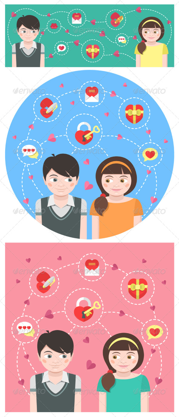 Dating Conceptual Illustrations - Valentines Seasons/Holidays