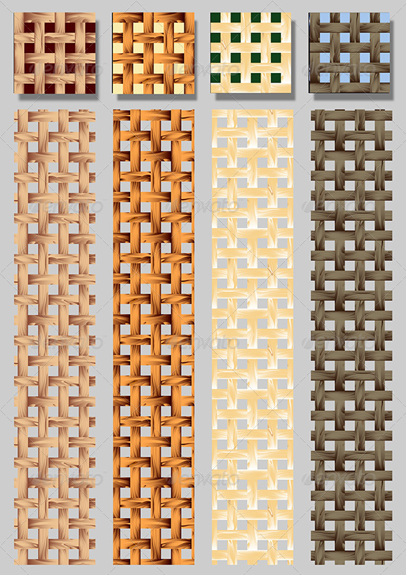 Seamless Wooden Lath Pattern - Patterns Decorative