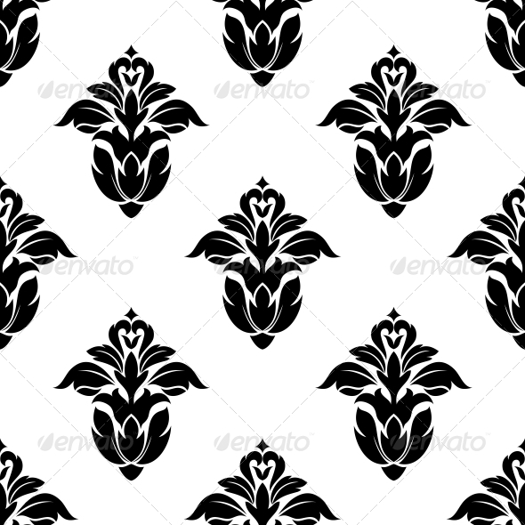 Seamless Pattern of Floral Motifs - Patterns Decorative