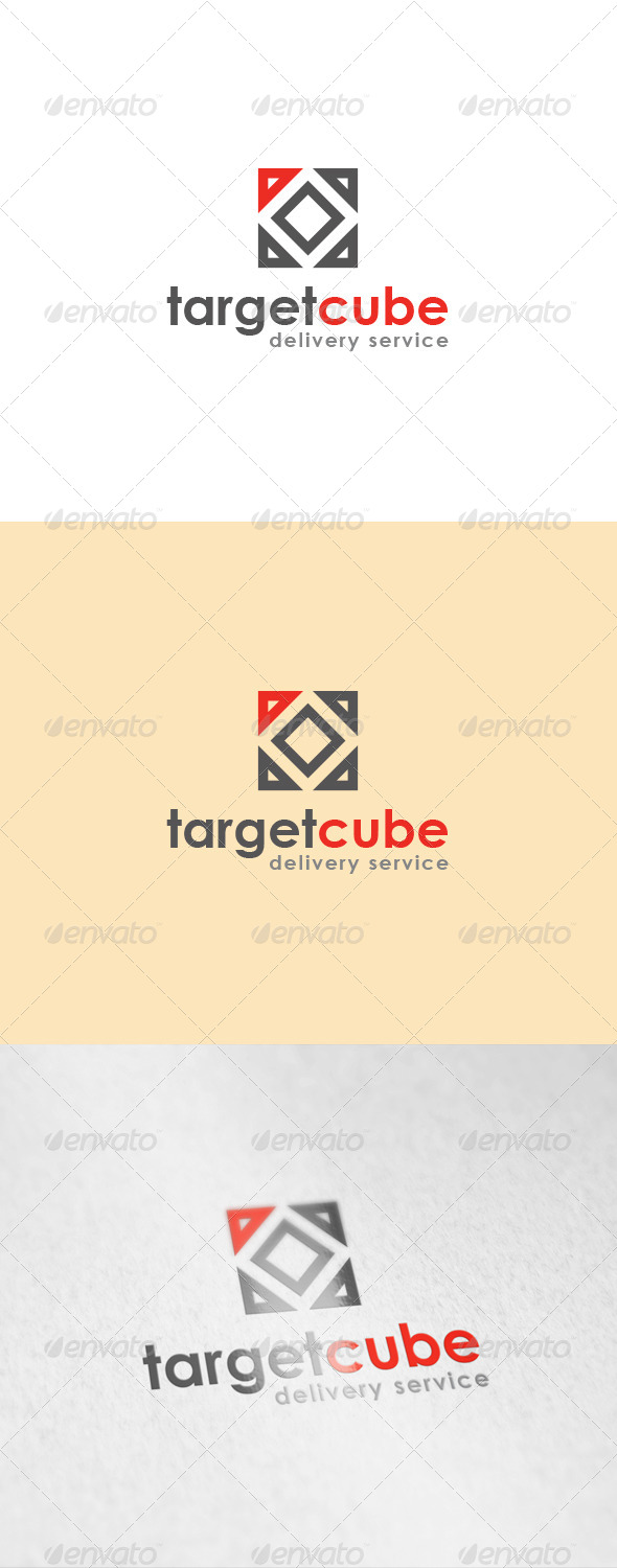 Target Cube Logo - Abstract Logo Templates