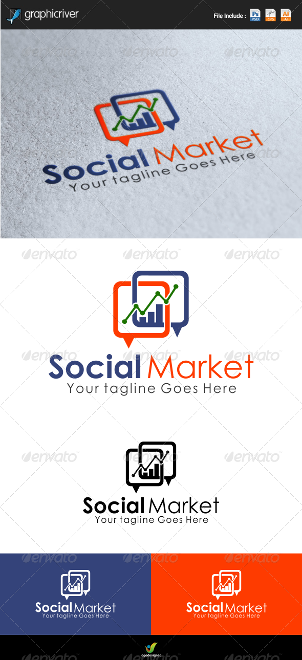 Social Market Logo template - Symbols Logo Templates