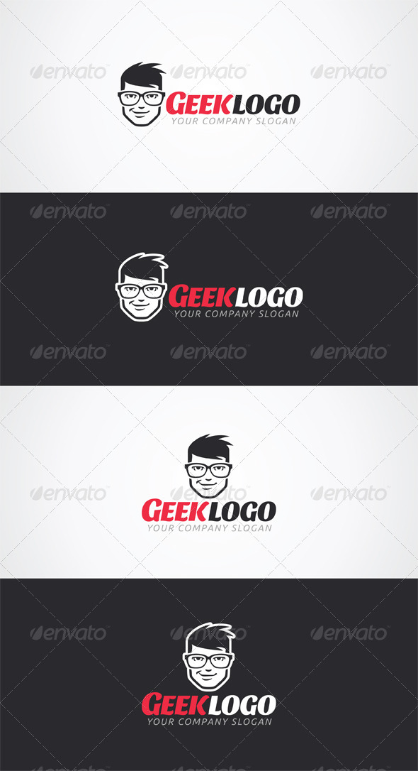 Geek Logo Template - Humans Logo Templates