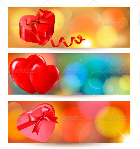 Set of Valentine Gift Cards  - Valentines Seasons/Holidays