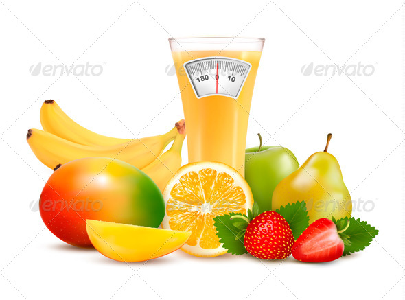 Group of Healthy Fruit - Food Objects