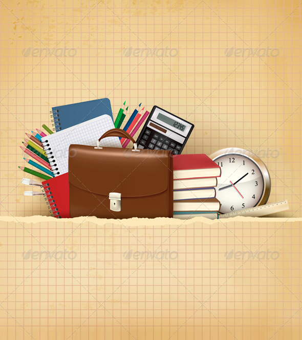 Back to School Background with School Supplies - Industries Business