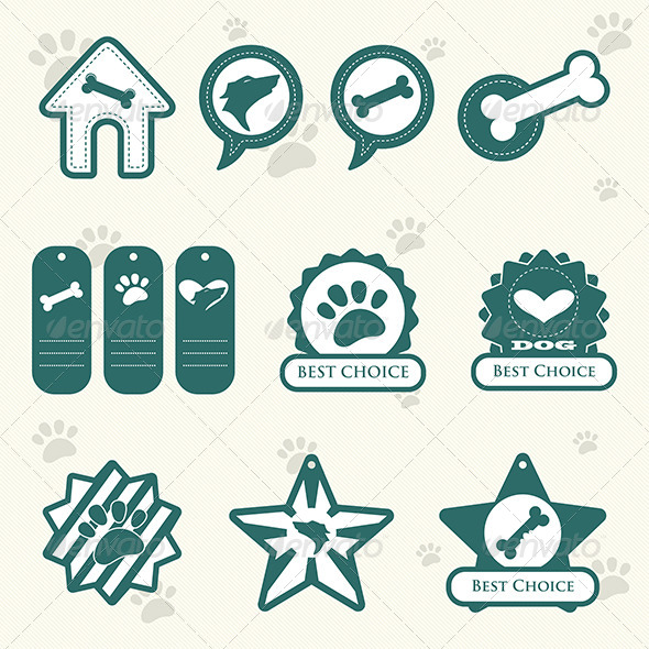 Dog Labels - Decorative Vectors