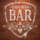 Bar Sign Painted on Vintage Brick Wall - GraphicRiver Item for Sale
