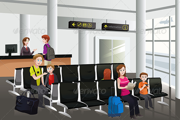 Waiting in the Airport - Travel Conceptual
