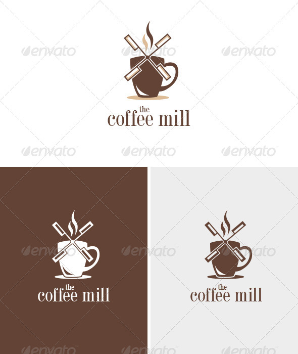 Coffee Mill - Food Logo Templates