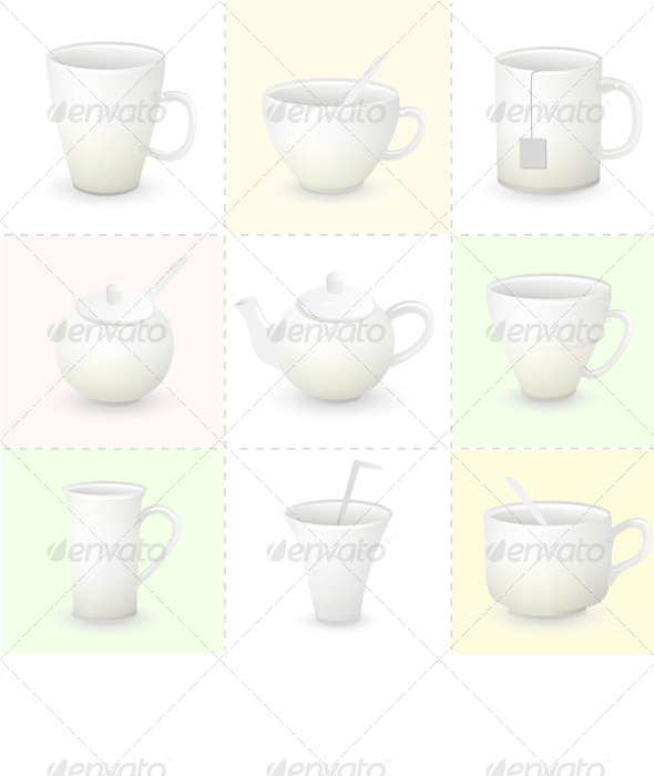 Cup Set - Man-made Objects Objects