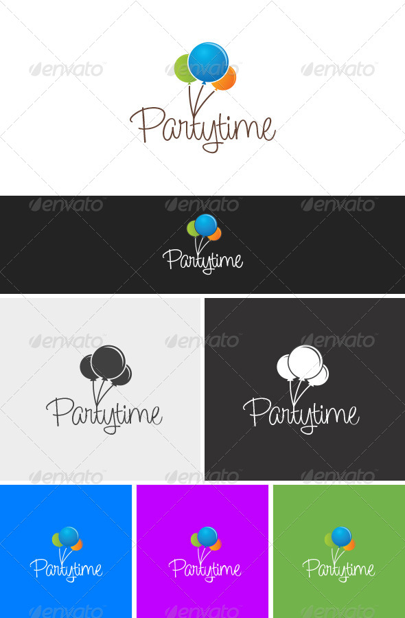 Partytime - Objects Logo Templates