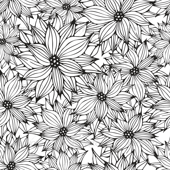 Seamless Floral Background - Backgrounds Decorative