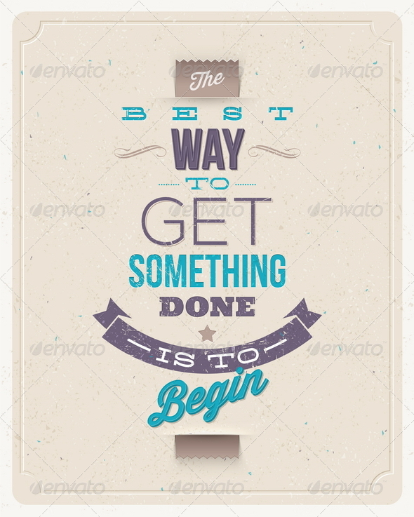 Motivating Quotes Design - Decorative Vectors