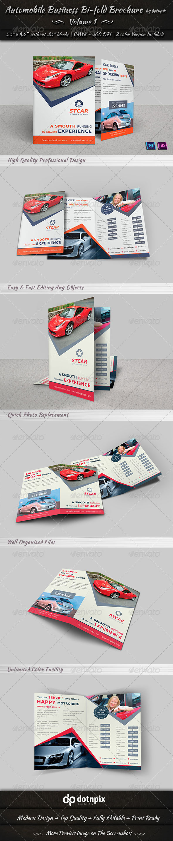 Automobile Business Bi-Fold Brochure | Volume 1 - Corporate Brochures