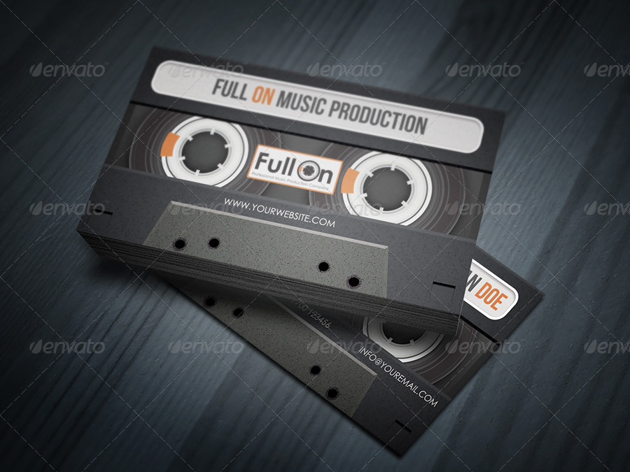 Audio cassette business card for music industry by taeef graphicriver audio cassette business card for music industry cheaphphosting Images