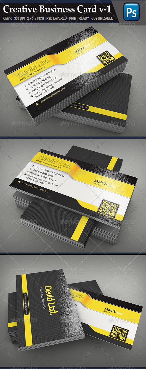 Creative Business Card V1 - Creative Business Cards