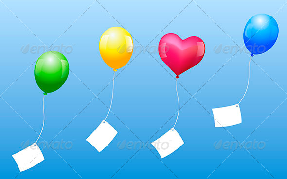 Balloons Wishes - Man-made Objects Objects