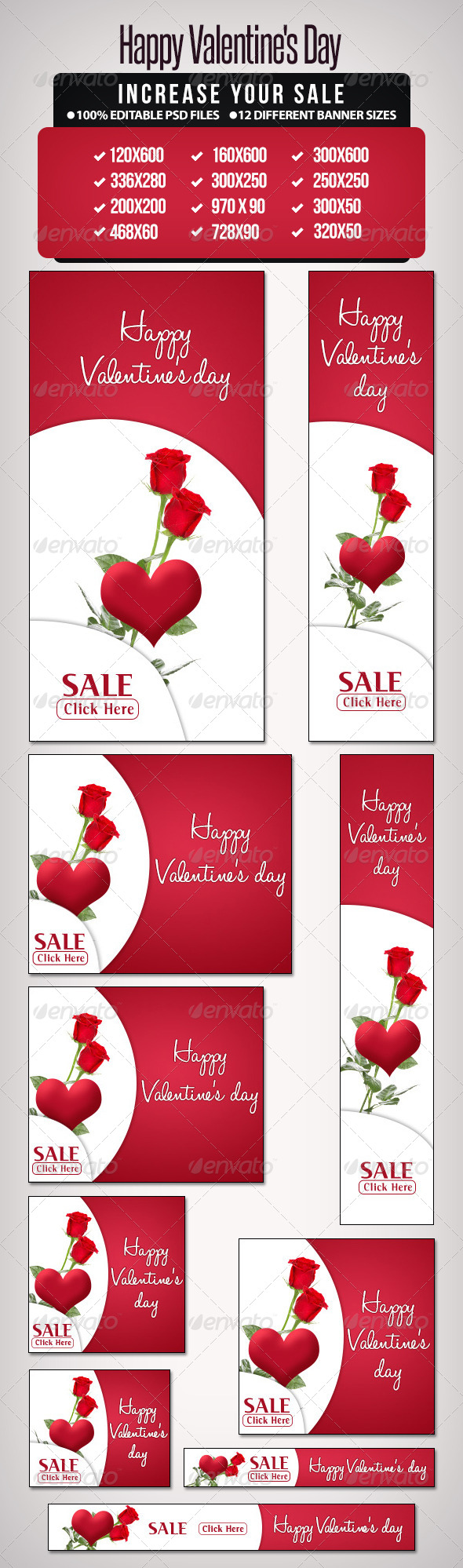 Happy Valentine's Day - Banners & Ads Web Elements